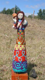 felted stump doll