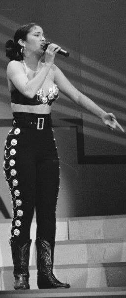 Selena Quintanilla Perez singing Buenos Amigos at the Tejano Music Awards in 1992