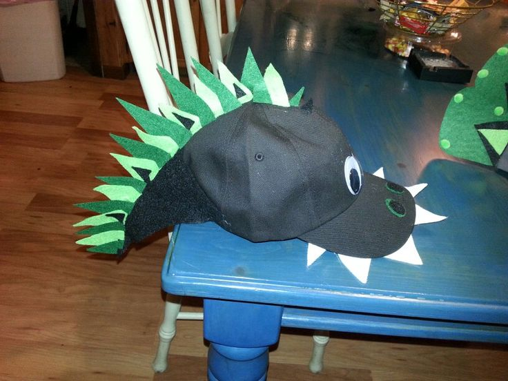 Made my son's Crazy Hat for spirit week! He wanted a dinosaur.. :-)