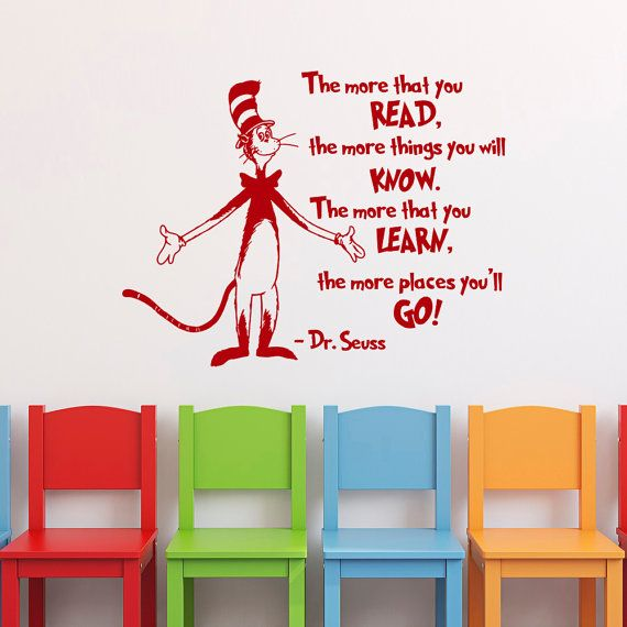 Dr Seuss Wall Decor dr seuss vinyl wall art dr seuss wall decals dr seuss one fish two