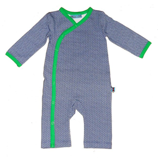 Knotsknetter - Froy & Dind baby jumpsuit 2 blauw/groen - Babykleding