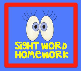 Sight word homework program - good for RTI or Kindergarten enrichment  $