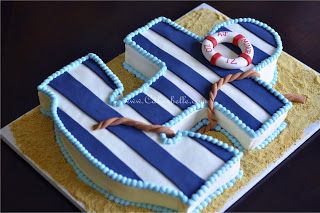 Anchor Baby Shower Cake