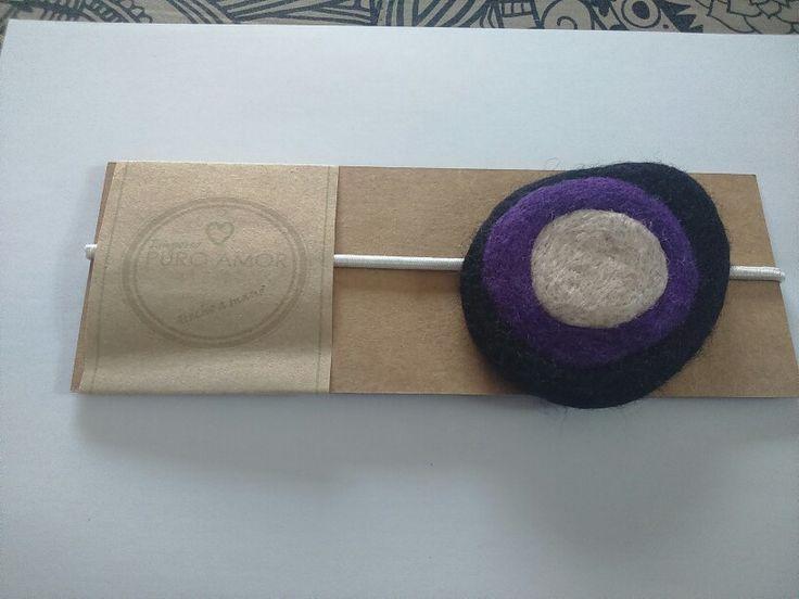 Cintillo fieltro agujado y húmedo Diseño unico,hecho a mano Venta por facebook: emporiopuroamor
