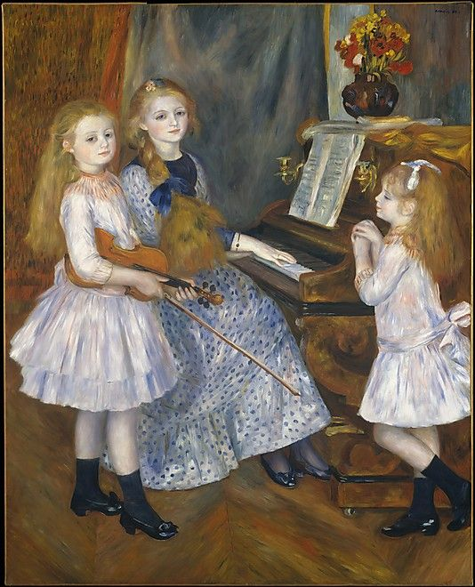 The Daughters of Catulle Mendès, Huguette (1871–1964), Claudine (1876–1937), and Helyonne (1879–1955) by Auguste Renoir