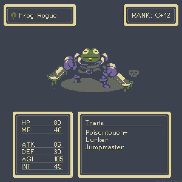 Frog rogue pixelart pixel art pixel art games game
