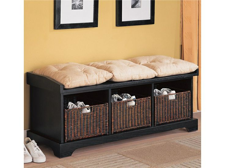 Espresso Foyer Bench : Best indoor benches images entryway storage