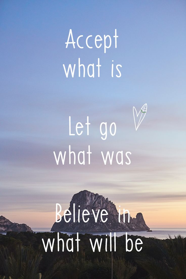 De sunday morning quote van vandaag Accept what is let go what was