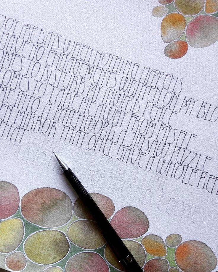 Fast fertig. #pebbles #pencillettering #vitasackvillewest #watercolour
