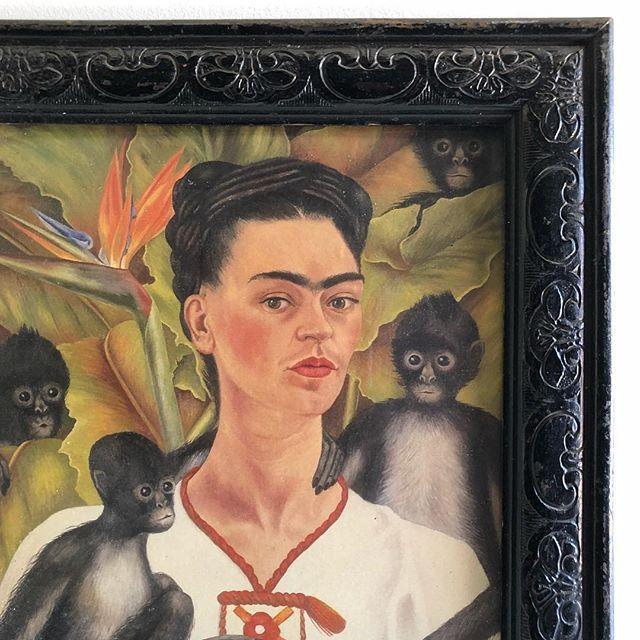 Frida!   Coming to the WebShop soon.. #vintageprint #vintageframe #vintageart #artshop #artlovers #artwalls #gallerywall #artshopping #artandinteriors #artsource #walldecor #vintageartemporium