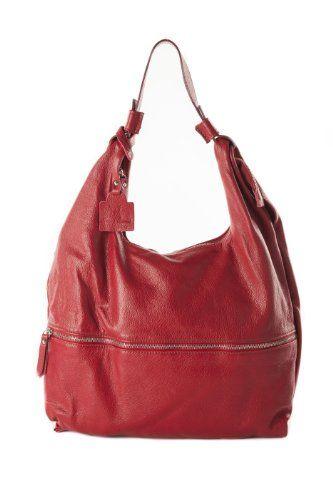 Borsa in Vera Pelle Anna Cecere Rosso Made In Italy - 40x38x6 cm #borse
