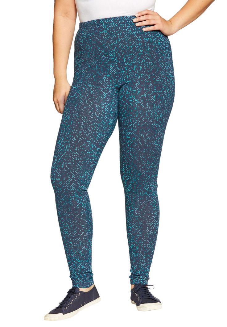 Petite leggings in stretch cotton knit - Women's Plus Size Clothing