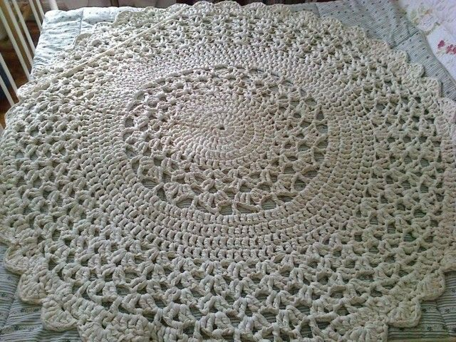 crochet carpet, virkattu matto