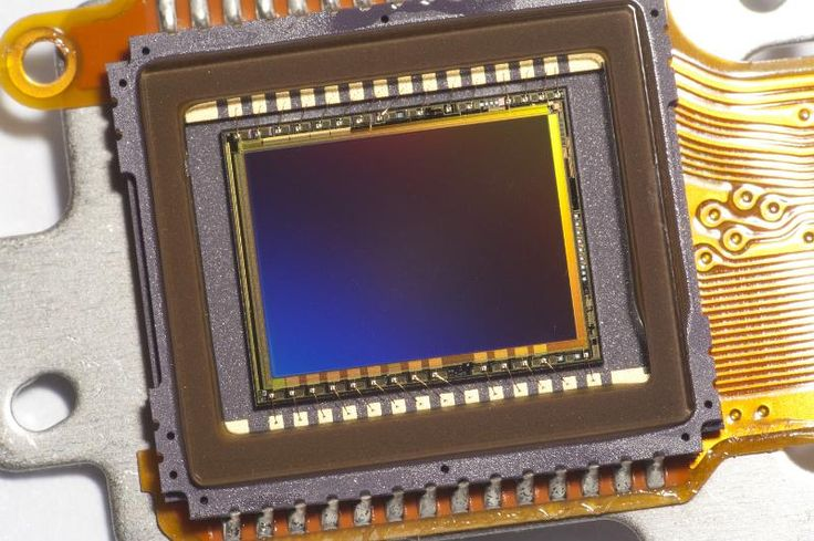 Close up of a digital CCD video sensor chip and conductive track wiring. - free stock photo from www.freeimages.co.uk