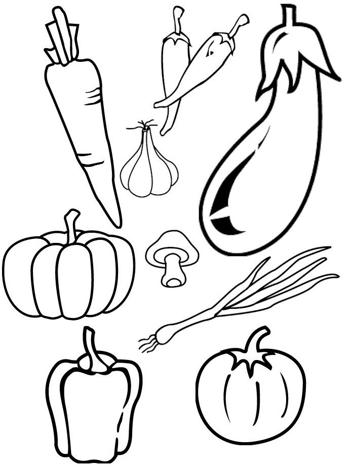 vegetable coloring pages | vegetable templates Colouring Pages