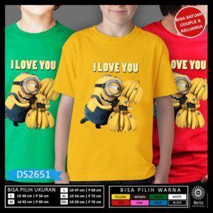 Kaos Minion Despicable Me 3 Love Banana