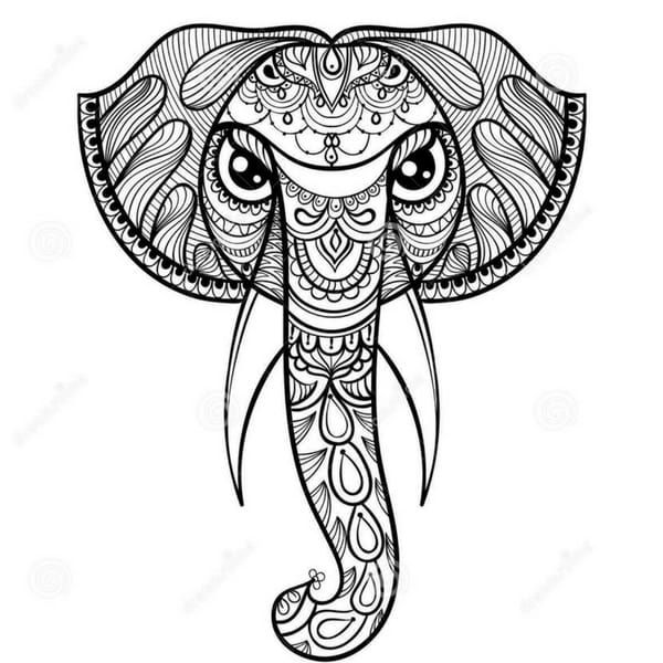 11 best Mandalas images on Pinterest - new elephant mandala coloring pages easy