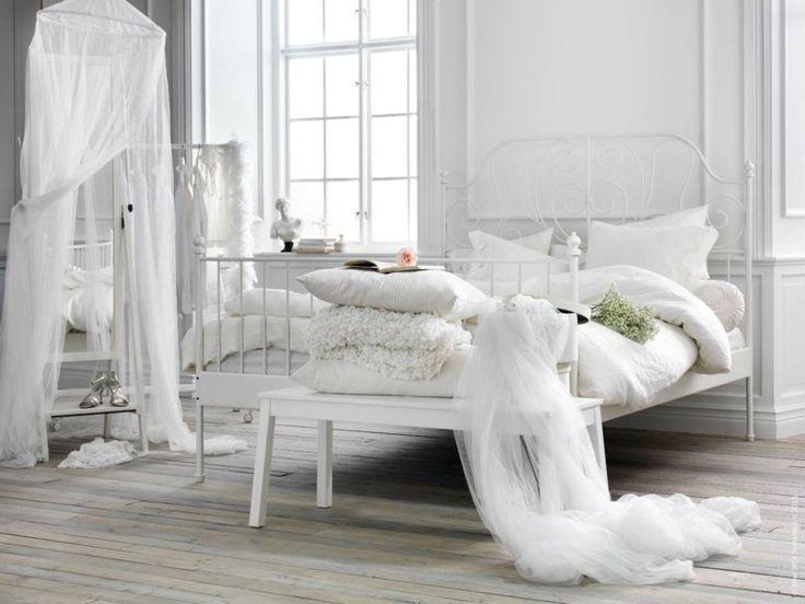 Die besten 25+ Ikea bett leirvik Ideen auf Pinterest Leirvik - schlafzimmer landhausstil ikea