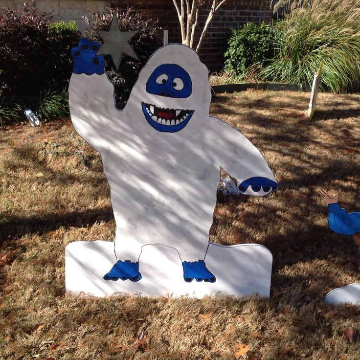 17 best images about abominable snowman bumble on for Abominable snowman holiday decoration