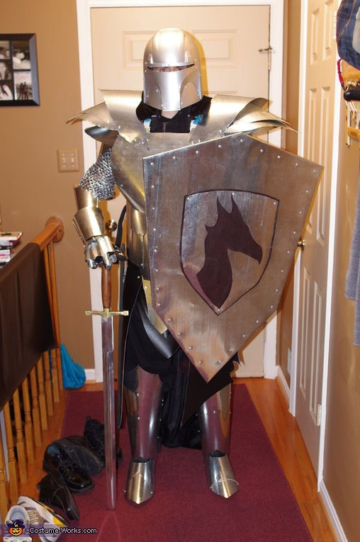 Homemade Medieval Knight Costume