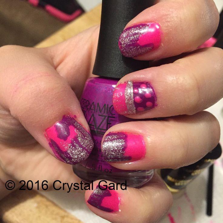 Spilled Paint Nail Art DIY