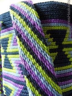 RiannesHaaksels: Ply split braiding tutorial. Técnica para realizar las correas de bolsos Wayuu