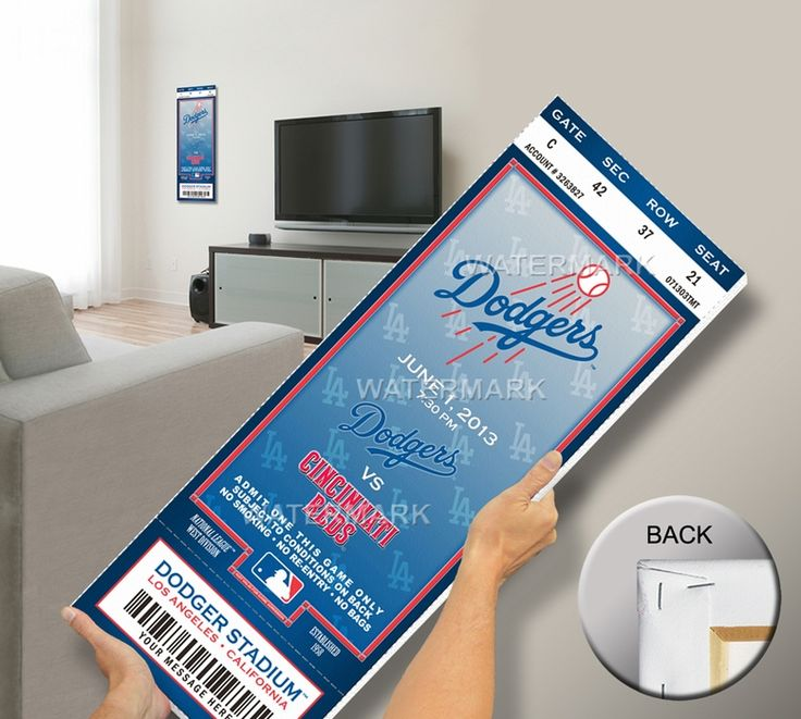 #LosAngeles #Dodgers #Personalized #Commemorative #MegaTicket   Want to capture the memory of a special regular-season game? Look no further. Our Commemorative Mega Ticket, printed on archival canvas and stretch-mounted, turns your memory into personalized wall art.