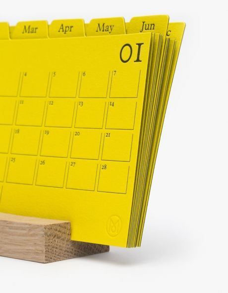 interaction we like / Calander / Yellow / paper / cue cards / at design binge: