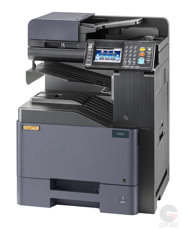 UTAX 300CI W leasingu już od 185,- PLN. Dostępne również w dzierżawie. Utax 300ci może w znaczący sposób podnieś wydajność twojego biura.To wielofunkcyjne kolorowe urządzenie może drukować, kopiować i skanować i przetwarzać w tym samym czasie kilkanaście zadań. Nowe tonery jak i technologia kolorowego wydruku dostarcza wyśmienite wydruki przez co twoje dokumenty błyszczą najlepiej jak mogą. Dzięki szerokiej gamie podajników i opcji wykańczających , to wszystko może być perfekcyjnie ustawione…