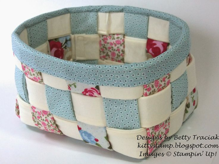 Kitty Stamp: Woven Fabric Basket