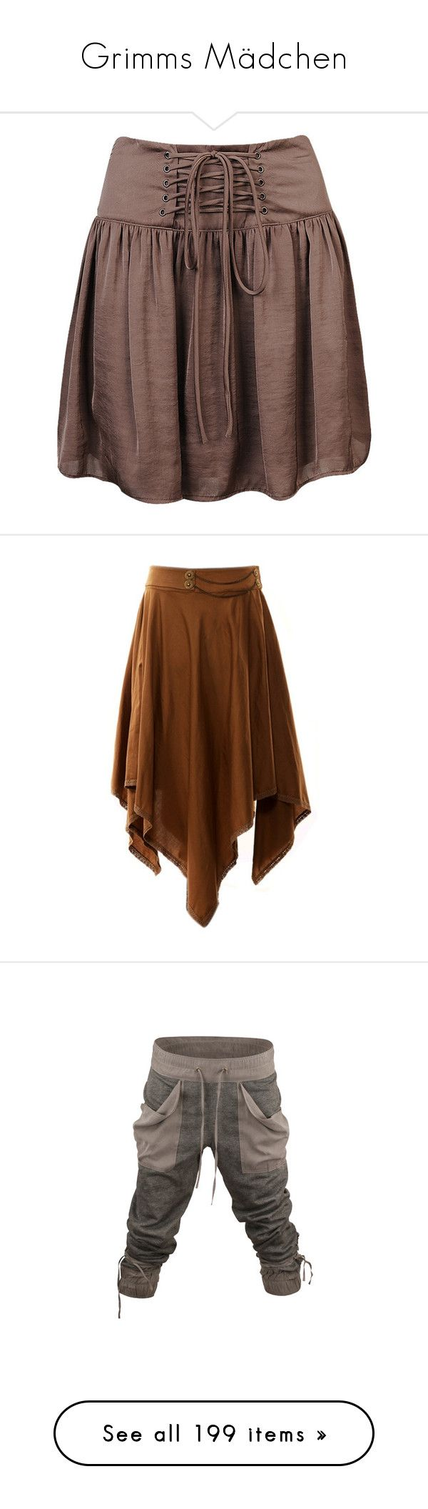 """""""Grimms Mädchen"""" by mezzo-hauptperson ❤ liked on Polyvore featuring skirts, bottoms, saias, faldas, women, panel skirt, brown skirt, shirred skirts, forever 21 and gathered skirt"""