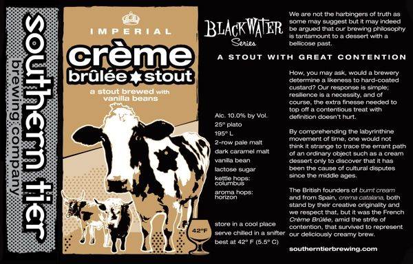 Not yet available in CA, Southern Tier's Creme Brulee Imperial Milk Stout has been recommended to me many times. I look forward to trying it the next time I visit a state that has it.