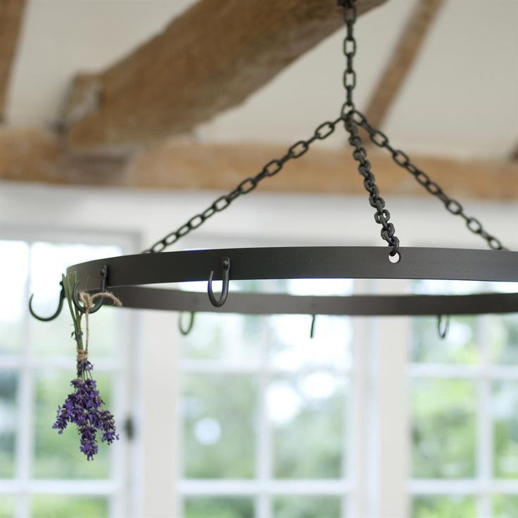 Hand #forged #steel #pan hanger. Perfect for your country #kitchen.