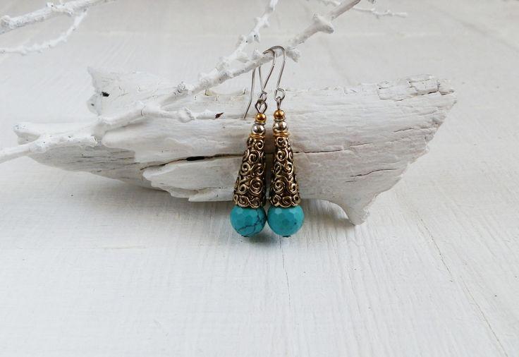 Серьги с бирюзой. #серьгисбирюзой #серьгибирюзаа #серьгиручнойработы #turguoise #earringsjewelry #bohemianjewelry #украшенияручнойработы #handmadejewelry #handmadebijoux #handmadeearrings #handmade #bjoux #ручнаяработа