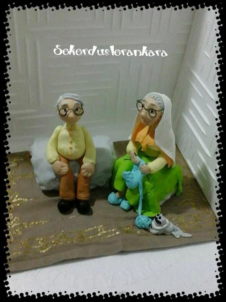 60th birthday cake figures