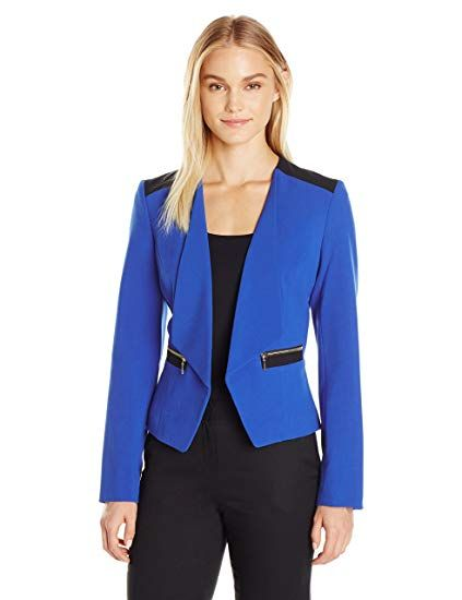 2e4e4db1446 Great for Nine West Women s Stretch Crepe Kiss Front Jacket online.    101.67  likeprodress from top store