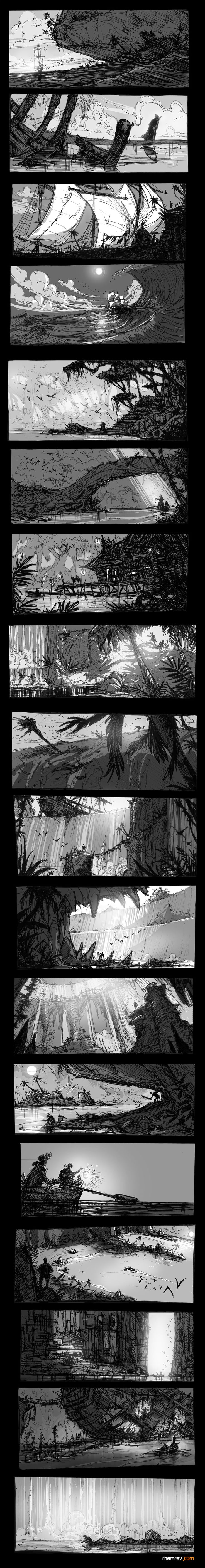Great examples of large shapes for thumbnails. Look at positive / Negative space relations.