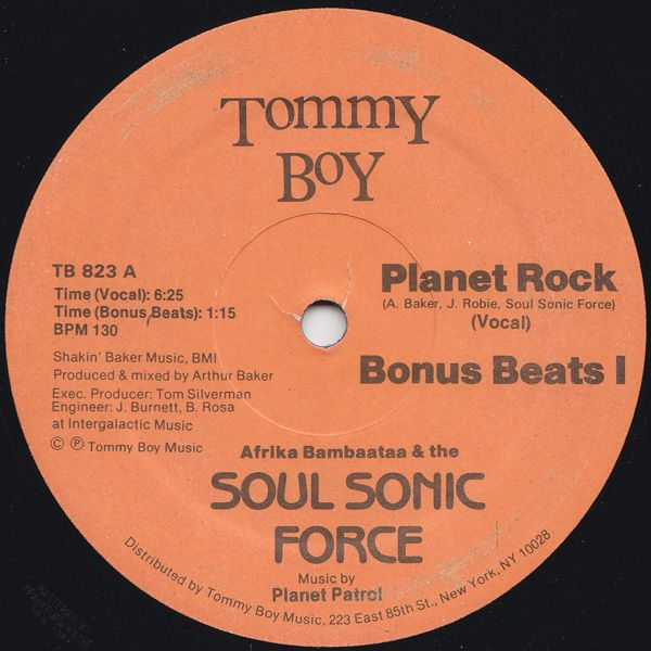Afrika Bambaataa & The Soul Sonic Force* Music By Planet Patrol – Planet Rock - 1982