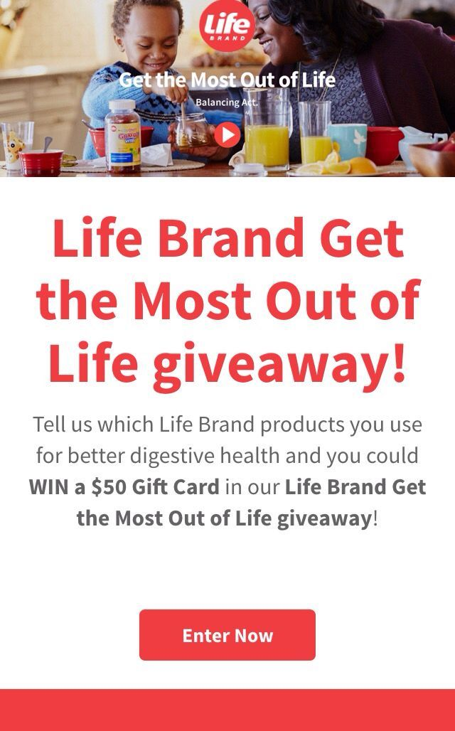 Win a $50 from Life Brands and Shoppers Drug Mart!  #GetTheMostOutOfLife