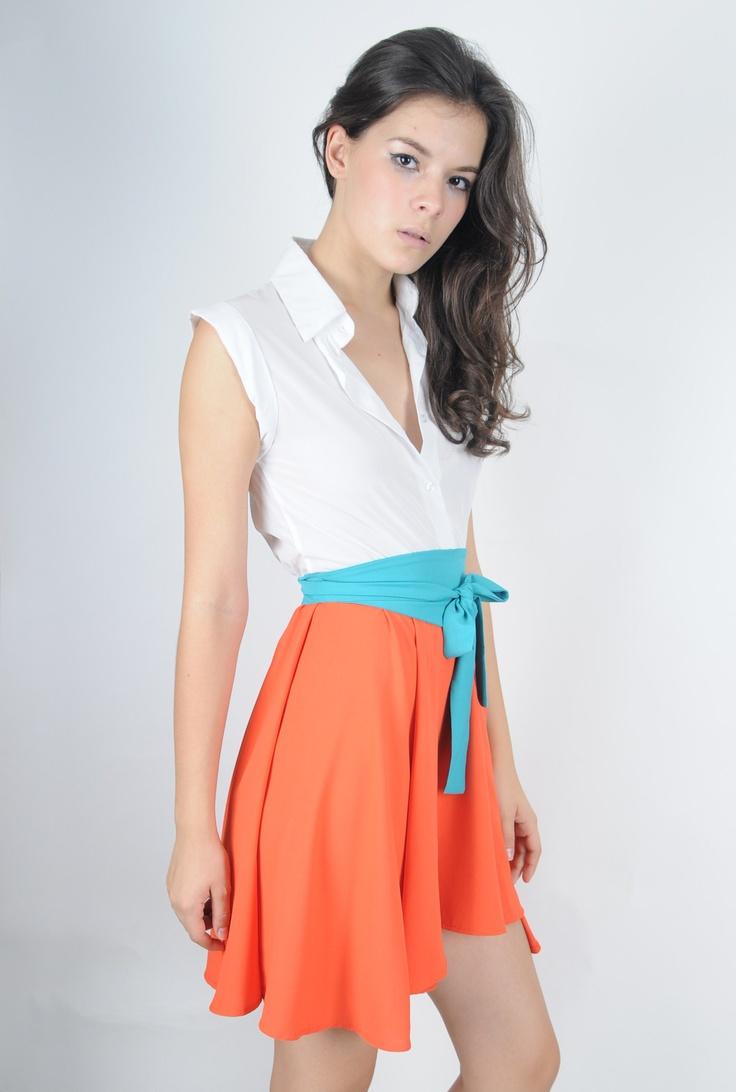 Orange Vert Robe