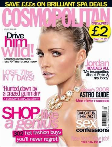 Katie Price - Cosmopolitan Magazine Cover [United Kingdom] (January 2008)