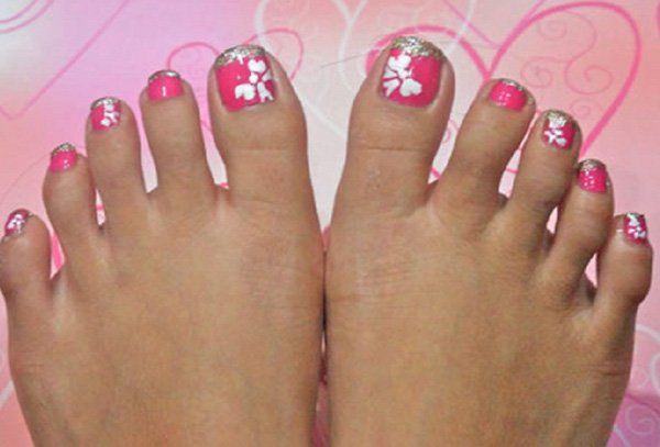 Pink Acrylic Toe Nails