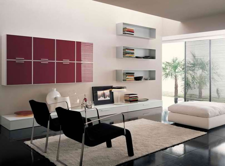 Living Room Contemporary Furniture #30: Modern Living Room Design Schemes
