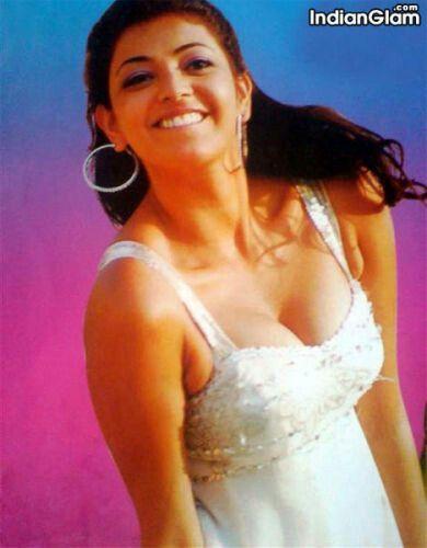 Hot cleavage show -Kajal Agarwal -