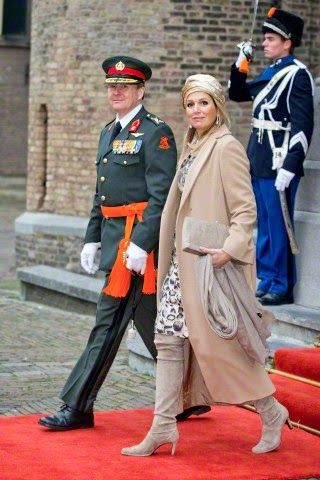 King Willem-Alexander and Queen Maxima of The Netherlands attend the ceremony of the Military Willems-Orde to Majoor Tuinman at the Binnenhof square in The Hague, The Netherlands, 04.12.2014
