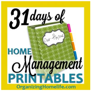 31 Days of Home Management Printables