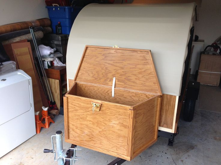 Got stuff?  Need extra room for your stuff while camping?  Add a tongue box to your Teardrop!  This one will fit 2 large propane cylinders, or a big bunch of gear!