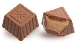 Конфеты ручной работы Frade ХОЛИДЕЙ Дробленый фундук и нежная карамель в молочном шоколаде - праздник каждый день!