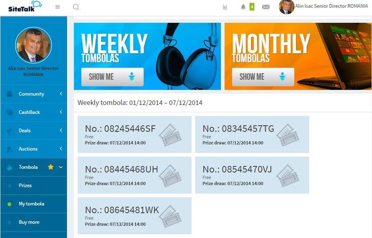 I've activated my #SiteTalk free tombola tickets.  Do you?  www.SiteTalk.com/FreeTombola
