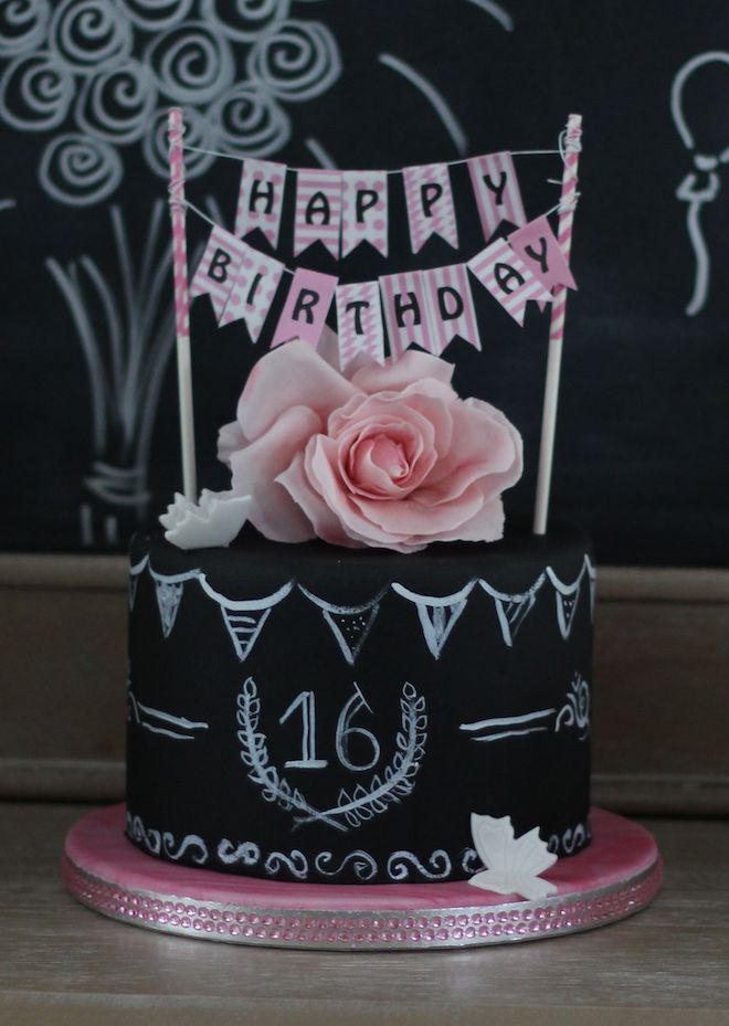 Love of Cake - Inspirieren   Probieren    Teilen : Sweet 16 - Chalkboard